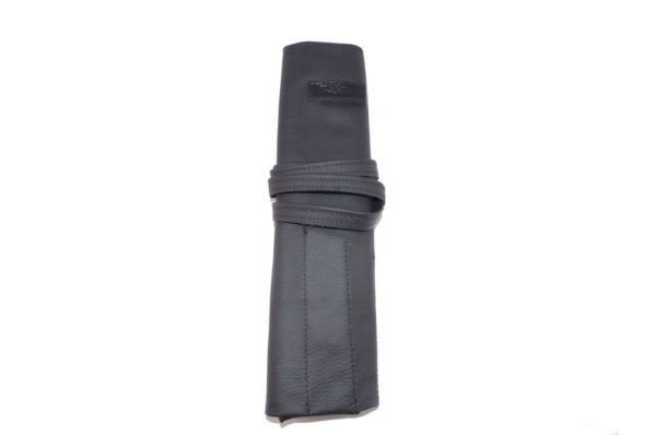 Leather Spanner Roll embossed with Morgan Wings in Black or Tan Brown-2345