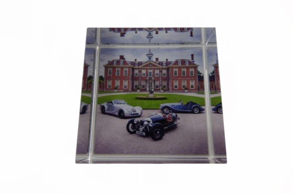 Glass Vision Paper Weight - 3 Cars-2427