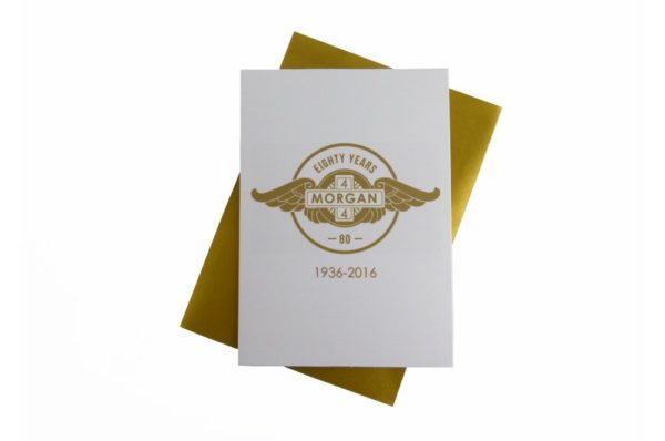 Morgan Greeting Card - Morgan 4/4 80 Years-0