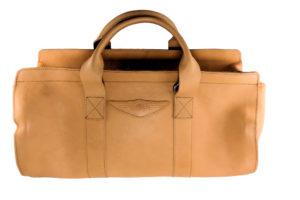 Aviator 1909 Morgan Travel Bag in Genuine Cream Leather-0