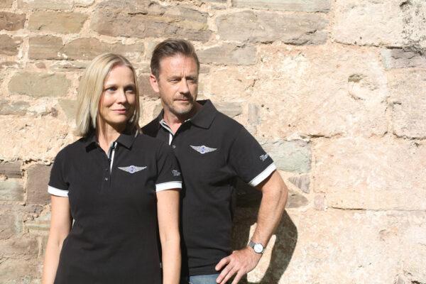Ladies Black Polo-shirt-2839