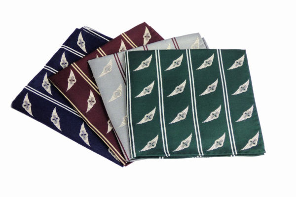"Morgan Silk Pocket Square - ""Wings Logo""-0"