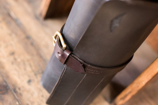 Waxed Leather Tool Roll Brown - Cherchbi-3376