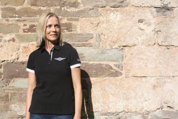 Ladies Black Polo-shirt-2849