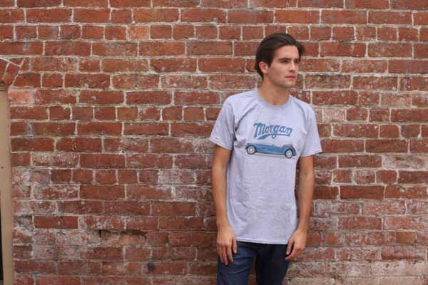 Mens Morgan Car Graphic and Morgan Script T-Shirt-2822