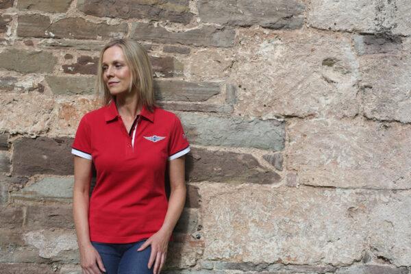 Ladies Red Polo-shirt-2833