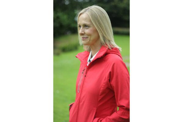 Ladies Red Softshell Jacket-2834