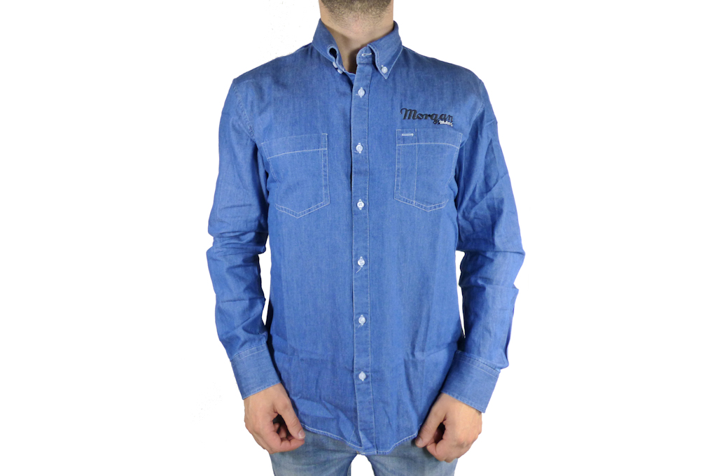 Mens Denim Shirt-Small-0