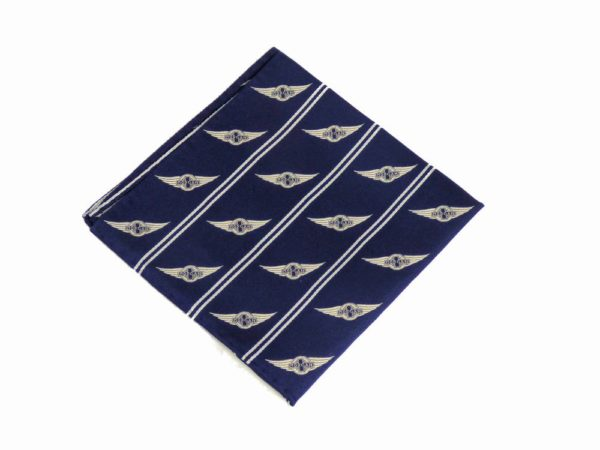 "Morgan Silk Pocket Square - ""Wings Logo""-2861"