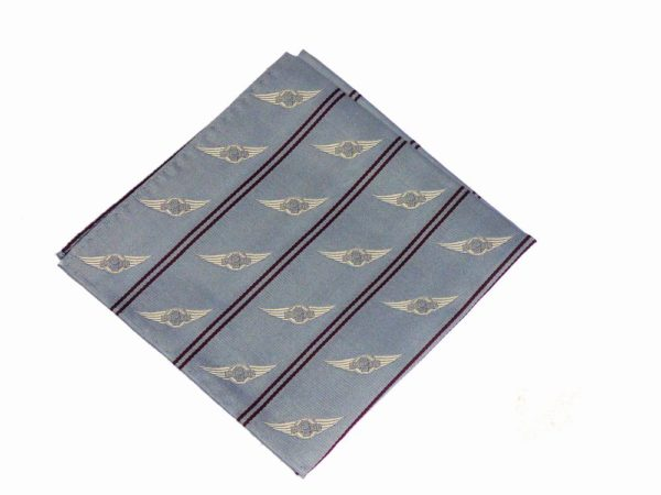 "Morgan Silk Pocket Square - ""Wings Logo""-2862"