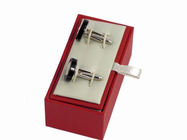 "Clements & Church Solid Silver ""Wire Wheel"" Cufflinks-2790"