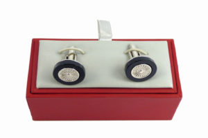 "Clements & Church Solid Silver ""Wire Wheel"" Cufflinks-0"