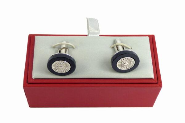 "Clements & Church Solid Silver ""Wire Wheel"" Cufflinks-0"
