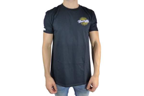 Mens Black Morgan Hand Logo T-shirt-0