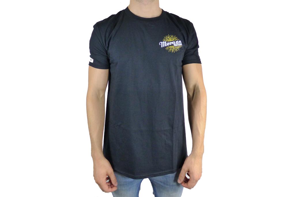 Mens Black Morgan Hand Logo T-shirt-0