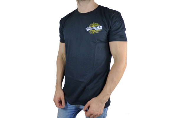 Mens Black Morgan Hand Logo T-shirt-2746