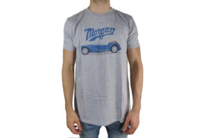 Mens Morgan Car Graphic and Morgan Script T-Shirt-0
