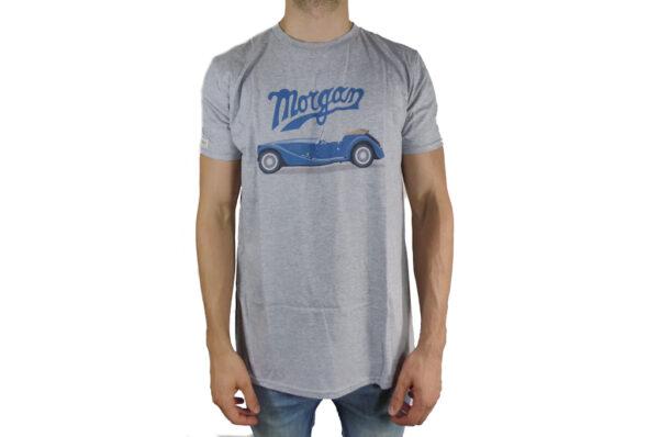 Mens Morgan Car Graphic and Morgan Script T-Shirt-0