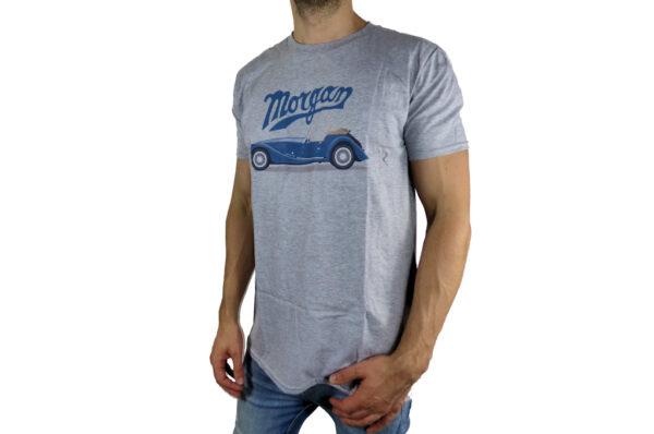 Mens Morgan Car Graphic and Morgan Script T-Shirt-2821