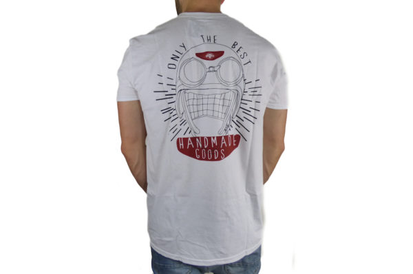 "Mens Morgan ""Only The Best"" + Helmet Logo on Back T-Shirt-2813"