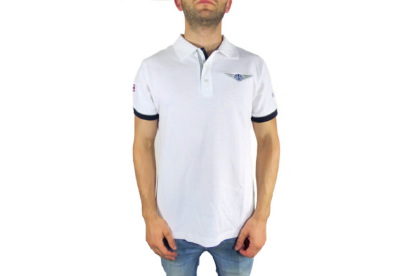 Mens Morgan White Polo-shirt-0