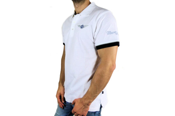 Mens Morgan White Polo-shirt-2663