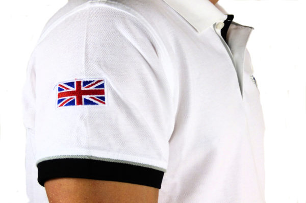Mens Morgan White Polo-shirt-2662