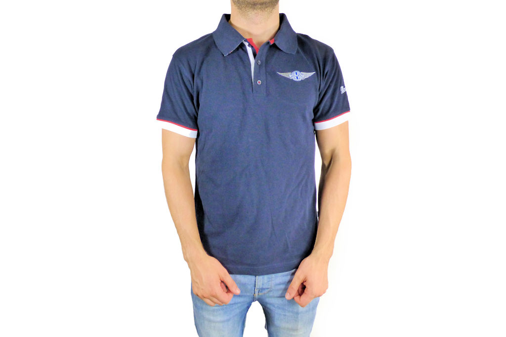 Mens Morgan Navy Polo-shirt-0