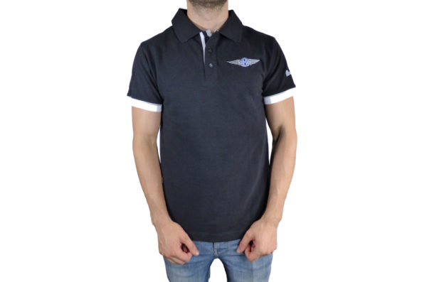 Mens Morgan Black Polo-shirt-0
