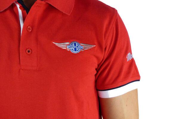 Mens Morgan Red Polo-shirt-2672