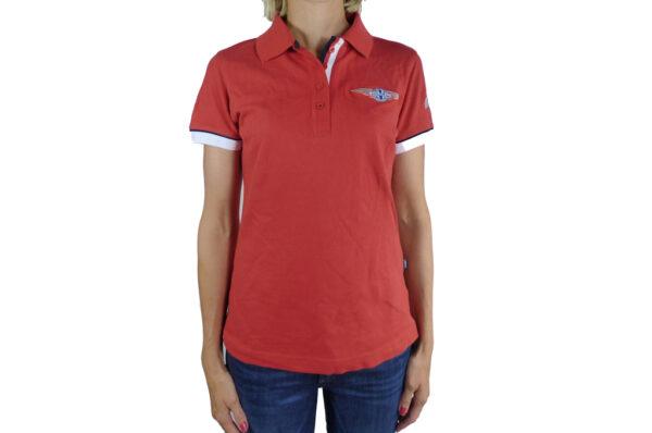 Ladies Red Polo-shirt-0