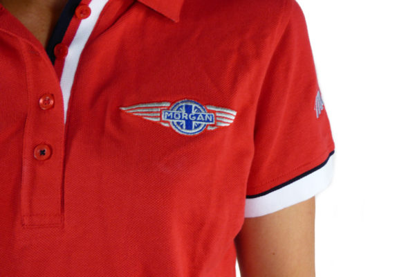 Ladies Red Polo-shirt-2759