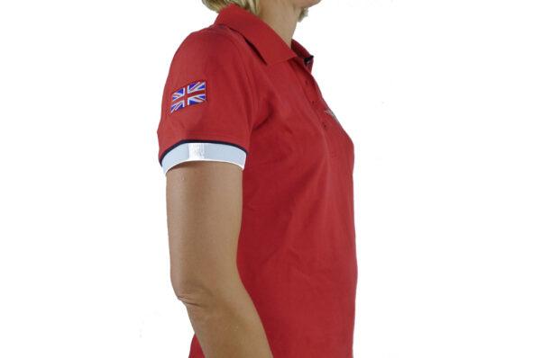 Ladies Red Polo-shirt-2685