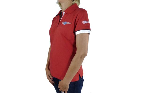 Ladies Red Polo-shirt-2684