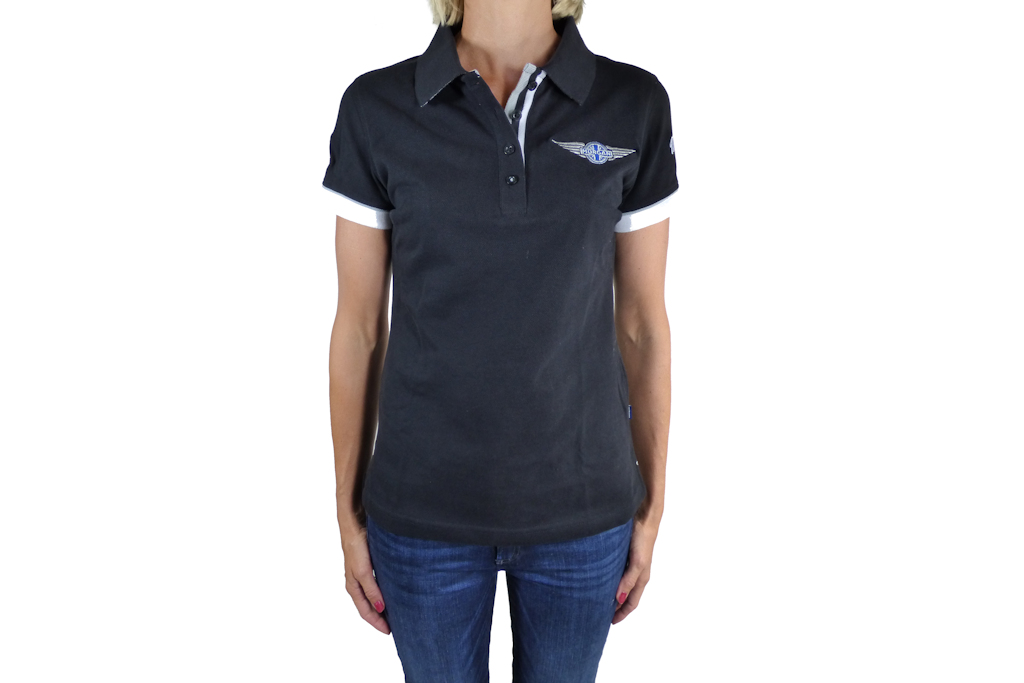 Ladies Black Polo-shirt-0