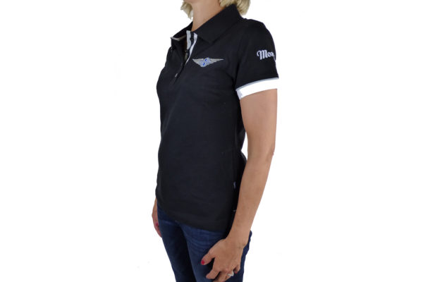 Ladies Black Polo-shirt-2673
