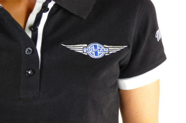 Ladies Black Polo-shirt-2760