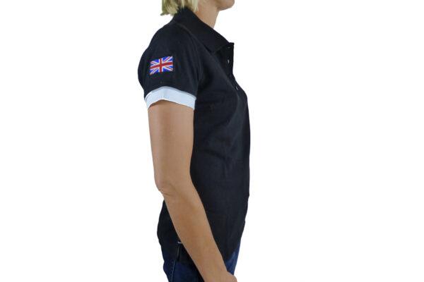 Ladies Black Polo-shirt-2674