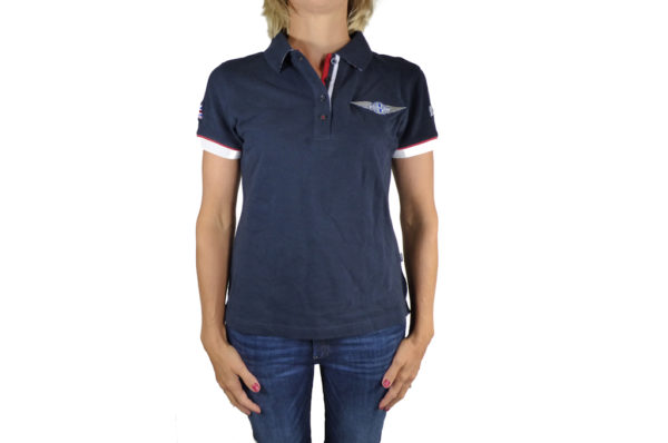 Ladies Navy Polo-shirt-0