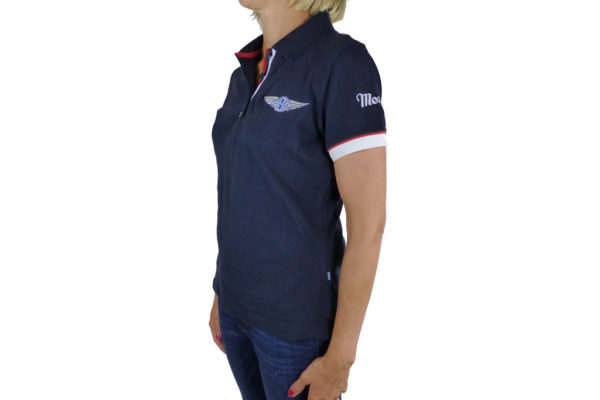 Ladies Navy Polo-shirt-2692