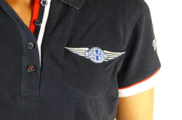 Ladies Navy Polo-shirt-2857