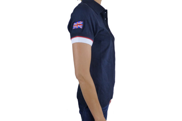 Ladies Navy Polo-shirt-2691
