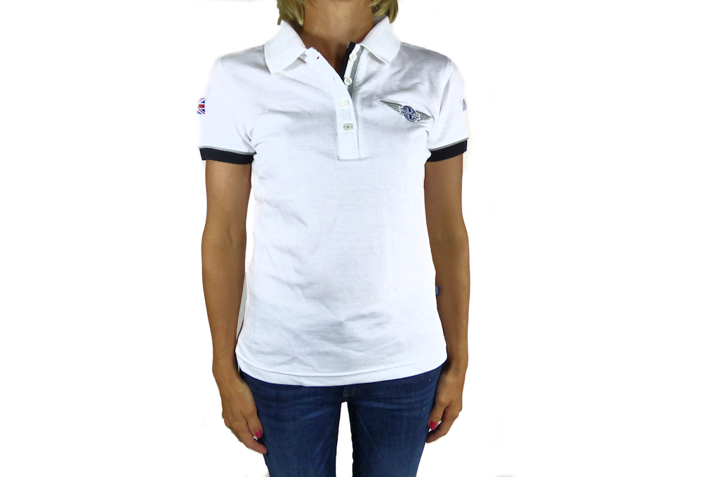 Ladies White Polo-shirt-0