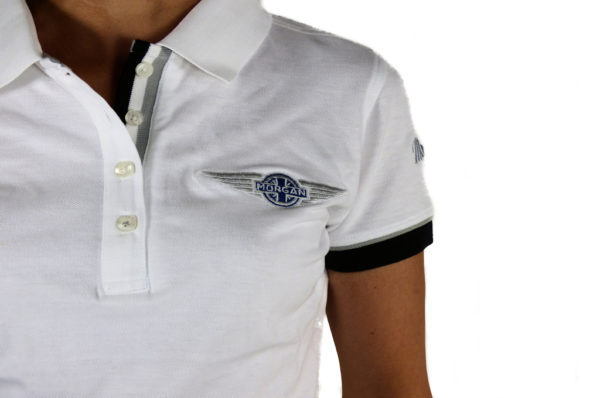 Ladies White Polo-shirt-2696