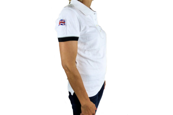 Ladies White Polo-shirt-2698