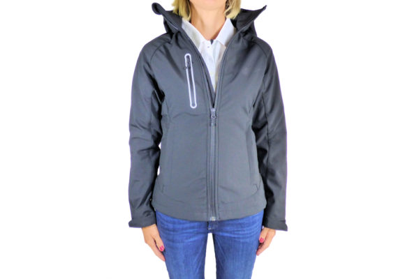 Ladies Black Softshell Jacket-0