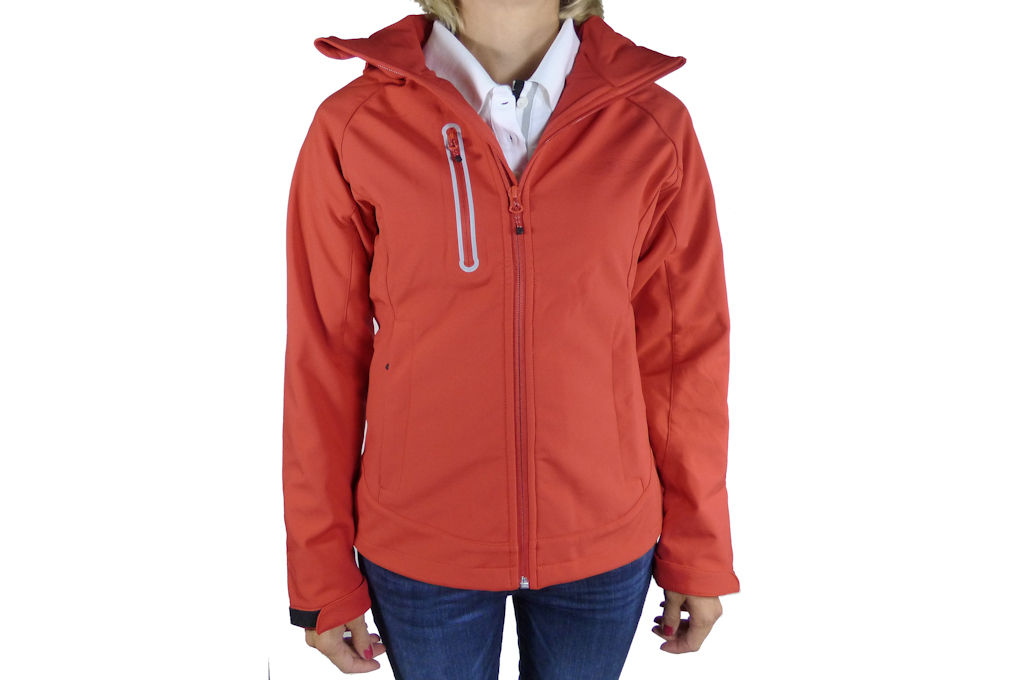 Ladies Red Softshell Jacket-0