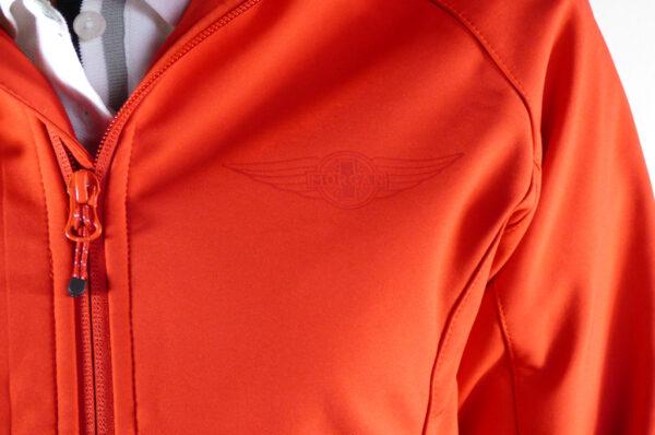 Ladies Red Softshell Jacket-2736