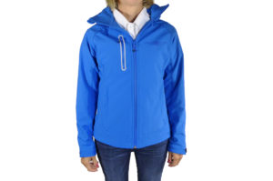 Ladies Blue Softshell Jacket-0