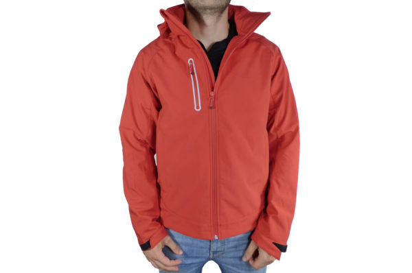 Mens Red Softshell Jacket-0
